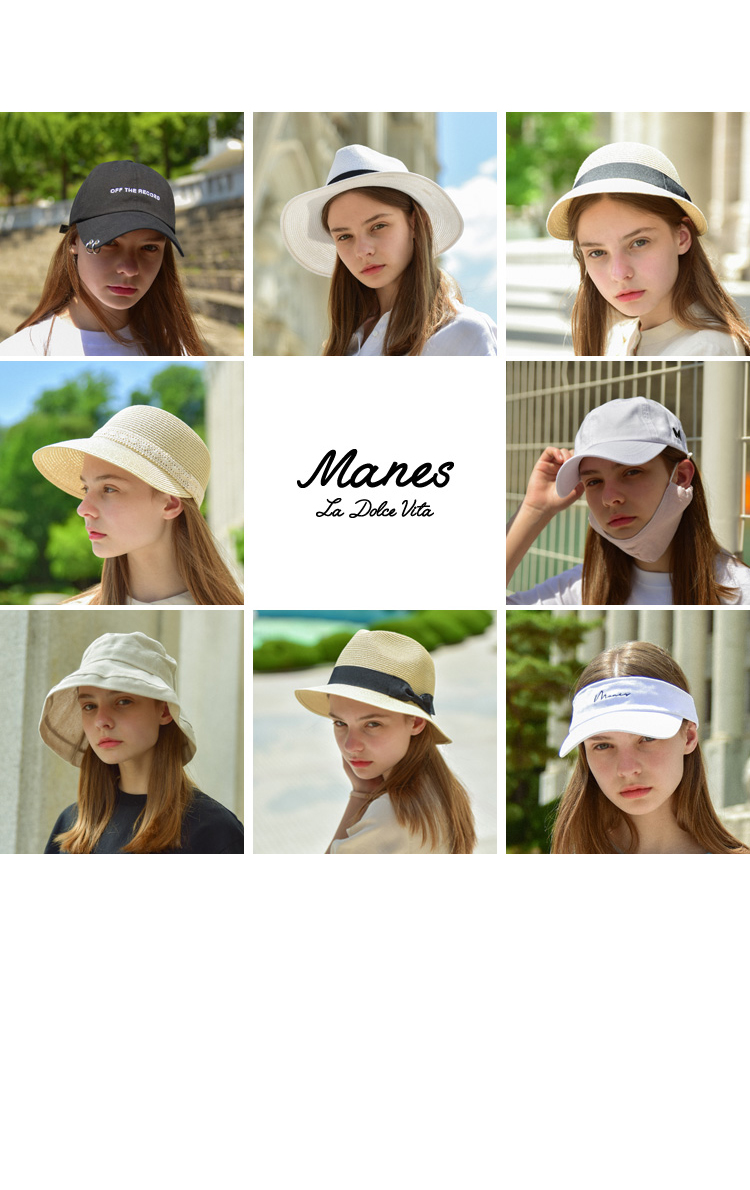 마네스(MANES) 낭트 오버사이즈 버킷헷 (4color)